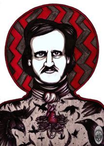 The Raven - Edgar Allan Poe commission - stamped
